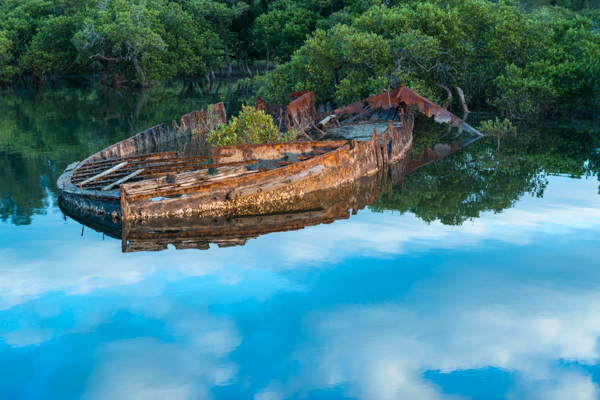 Sunk in the mangroves